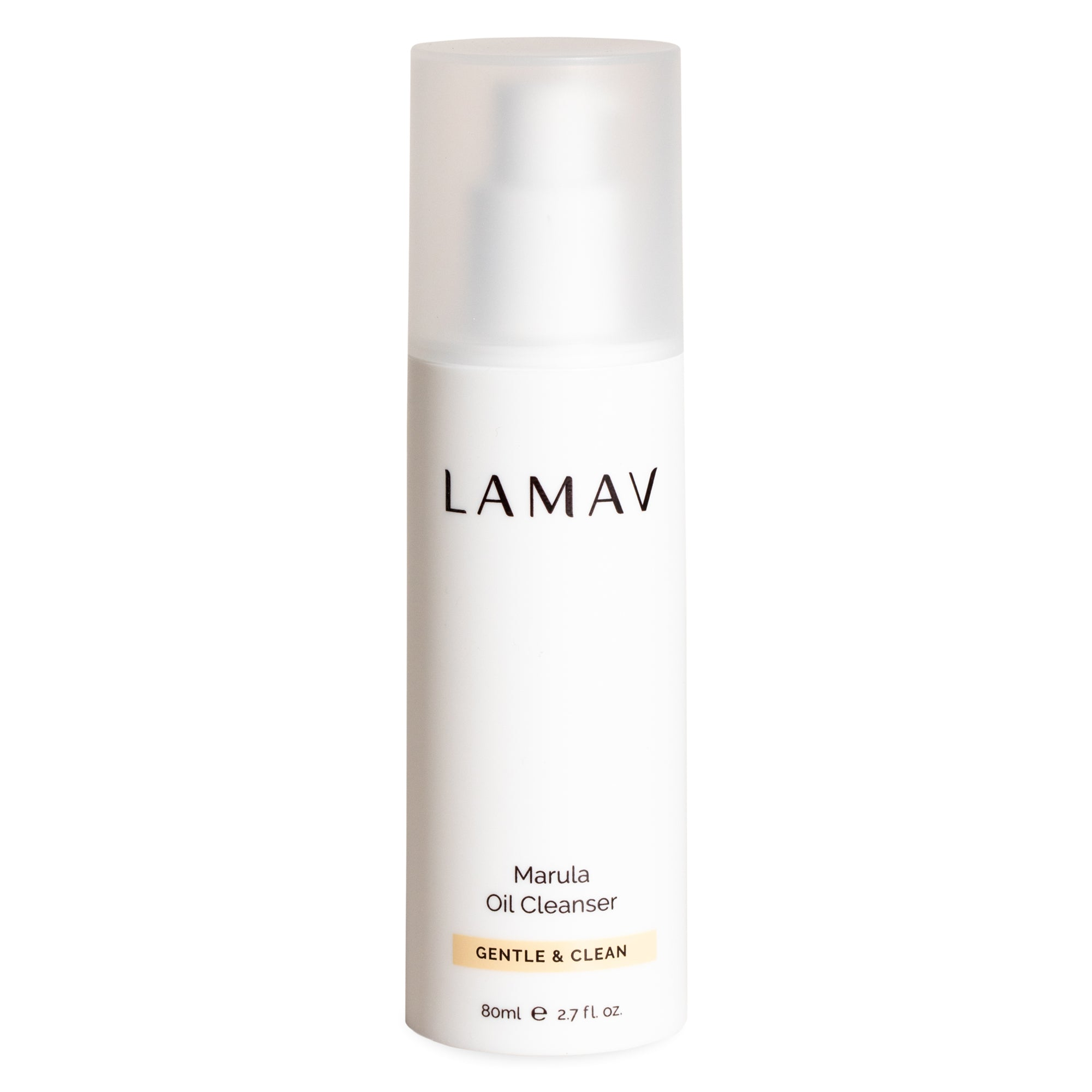 LaMav Marula Oil Cleanser. A purifying blend of natural oils that cleanses the skin and gently dissolves makeup and impurities to reveal clear, radiant complexion. Shop now at Skinbase Beauty.