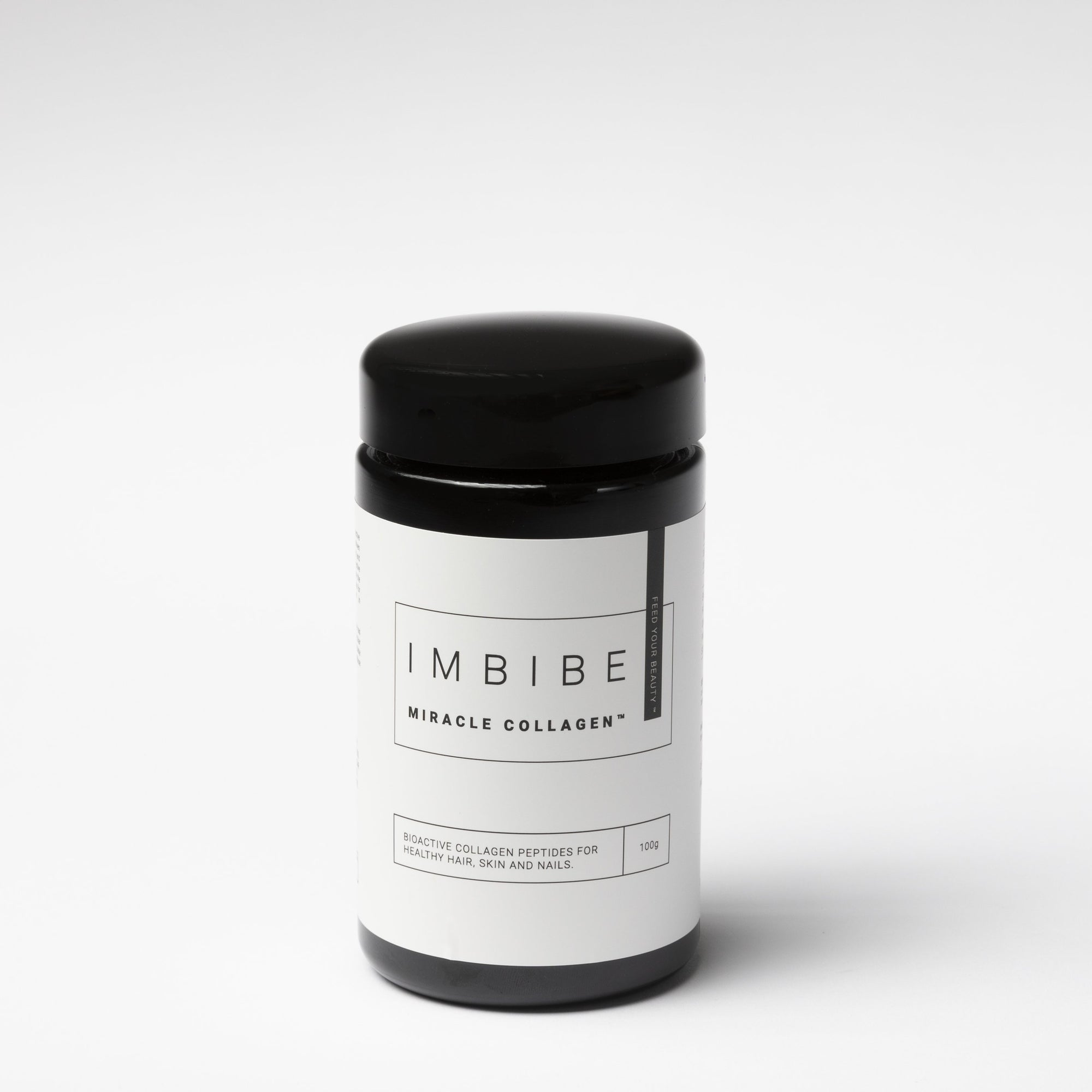 Shop Imbibe Miracle Collagen powder at Skinbase Beauty. Bioactive collagen peptides for hair, skin and nails.