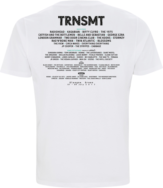'TRNSMT 2017 Eclipse' Men's White T-Shirt