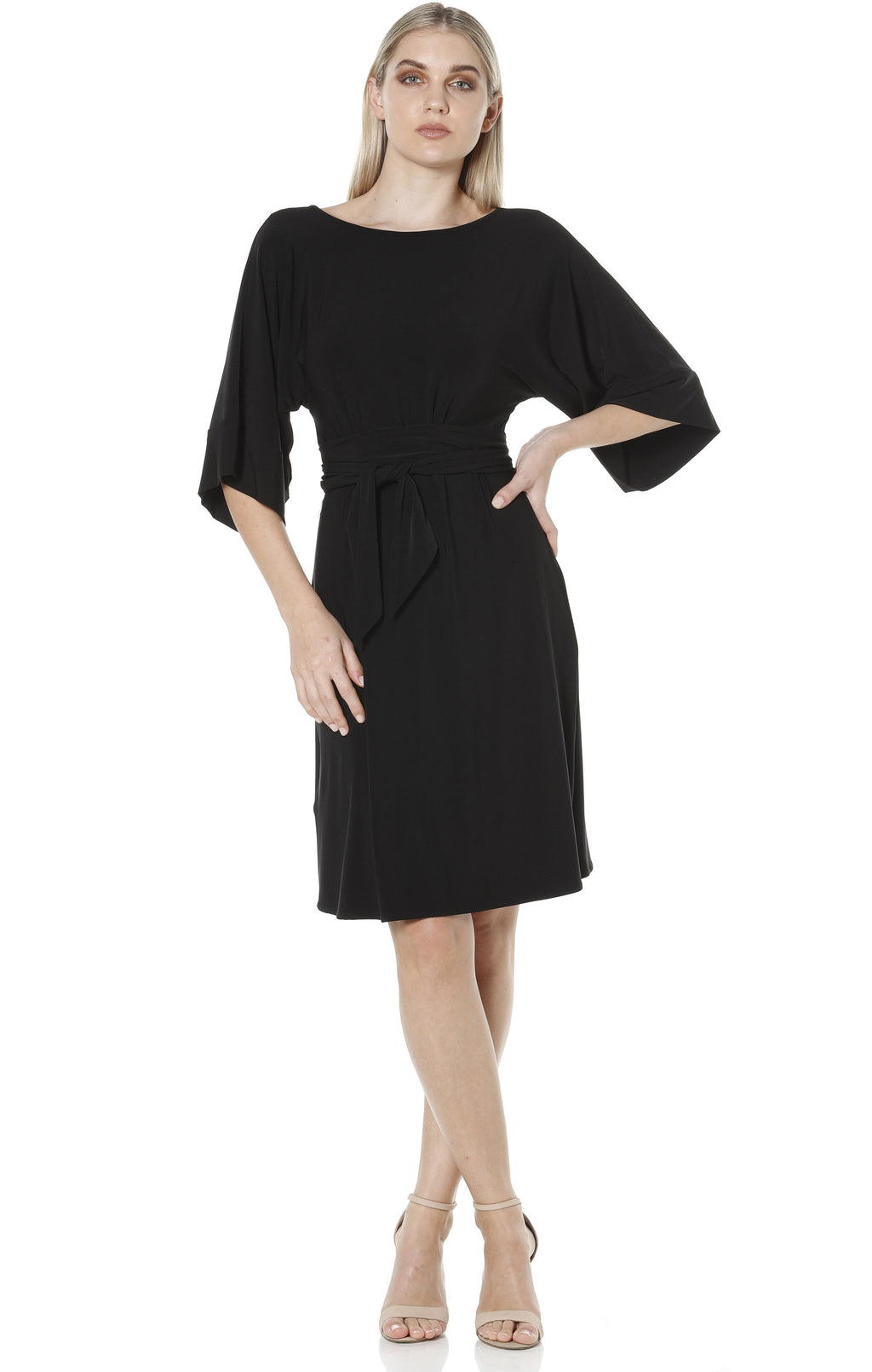 Kimono Reversible Tunic Dress - Black