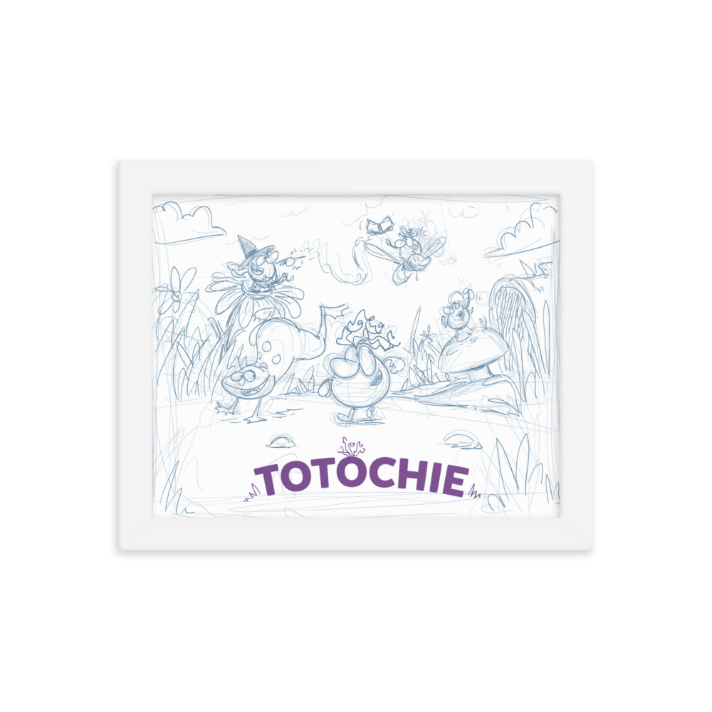 Framed graphic Totochie