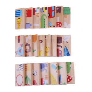 28pcs/Set Domino with Animal Theme