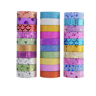 10 pcs Glitter Washi Tape