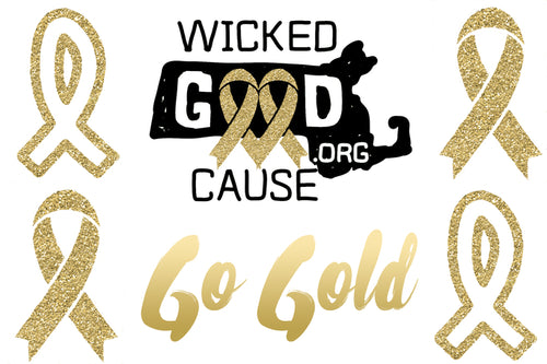 Assorted Go Gold Tattoos
