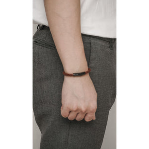 DURANTE BROWN LEATHER BRACELET - Stefan Severin Leather Accessories