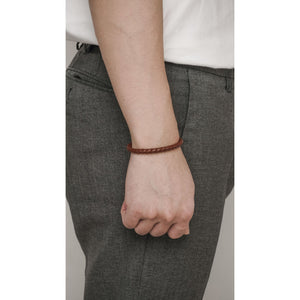 Leather Bracelet Durante Brown - Stefan Severin Everyday Lifestyle Goods