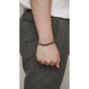 FIRENZE OLIVE STONE BRACELET - Stefan Severin Leather Accessories