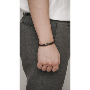 DURANTE COFFEE LEATHER BRACELET - Stefan Severin Leather Accessories