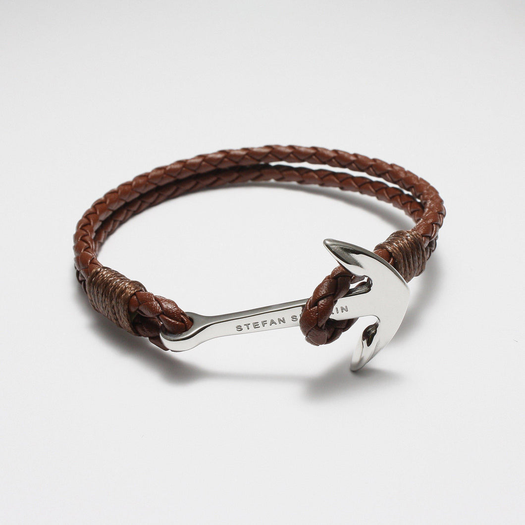 AMADEO BROWN LEATHER BRACELET - Stefan Severin Leather Accessories