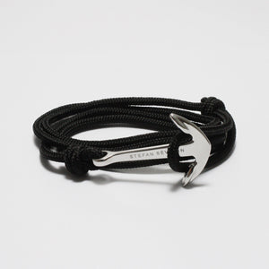 BENEDETTO ALL BLACK NYLON BRACELET - Stefan Severin Leather Accessories
