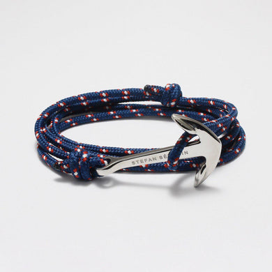 BENEDETTO BLUE NYLON BRACELET - Stefan Severin Leather Accessories