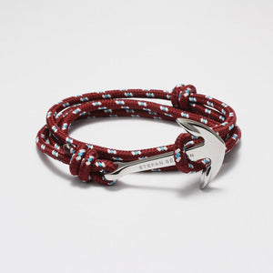 BENEDETTO MAROON NYLON BRACELET - Stefan Severin Leather Accessories