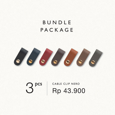 Cable Clip Nero (3 pcs) - Stefan Severin Everyday Lifestyle Goods