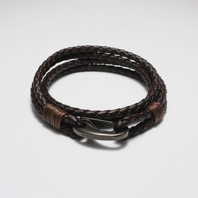 CESARIO COFFEE LEATHER BRACELET - Stefan Severin Leather Accessories