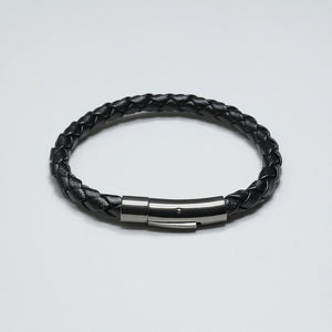 DURANTE BLACK LEATHER BRACELET