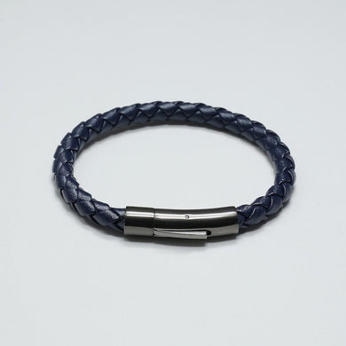 DURANTE BLUE LEATHER BRACELET