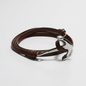 ENZO BROWN LEATHER BRACELET - Stefan Severin Leather Accessories