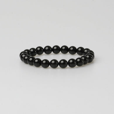 FIRENZE BLACK STONE BRACELET - Stefan Severin Leather Accessories