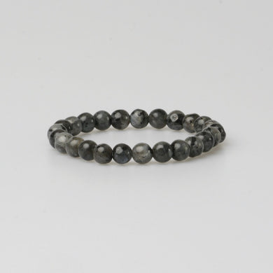 FIRENZE DARK GREY STONE BRACELET - Stefan Severin Leather Accessories