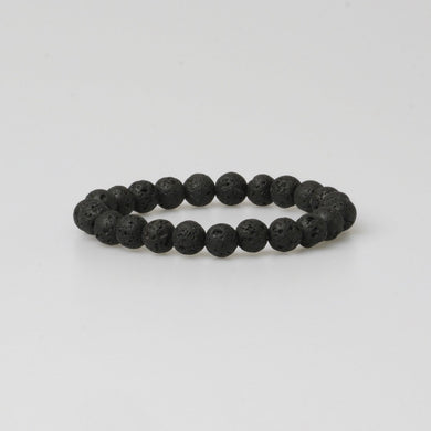 FIRENZE LAVA STONE BRACELET - Stefan Severin Leather Accessories