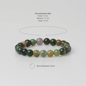 FIRENZE GREEN STONE BRACELET - Stefan Severin Leather Accessories