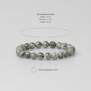 FIRENZE GREY STONE BRACELET - Stefan Severin Leather Accessories