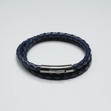 HUGO BLUE LEATHER BRACELET - Stefan Severin Leather Accessories