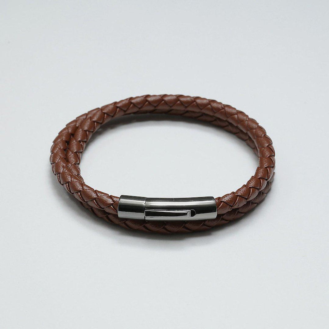 HUGO BROWN LEATHER BRACELET - Stefan Severin Leather Accessories