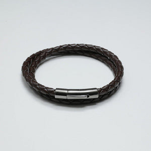 HUGO COFFEE LEATHER BRACELET - Stefan Severin Leather Accessories
