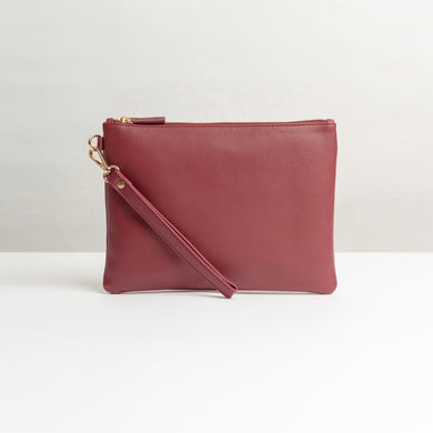 Clutch Bag Ignatio Maroon - Stefan Severin Everyday Lifestyle Goods