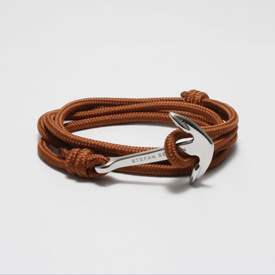 BENEDETTO ALL BROWN NYLON BRACELET - Stefan Severin Leather Accessories