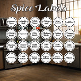 120 Spice Labels Stars.