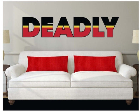 Aboriginal Deadly  Wall Sticker 1200 X 300 mm - Jdl Stickers and Stuff