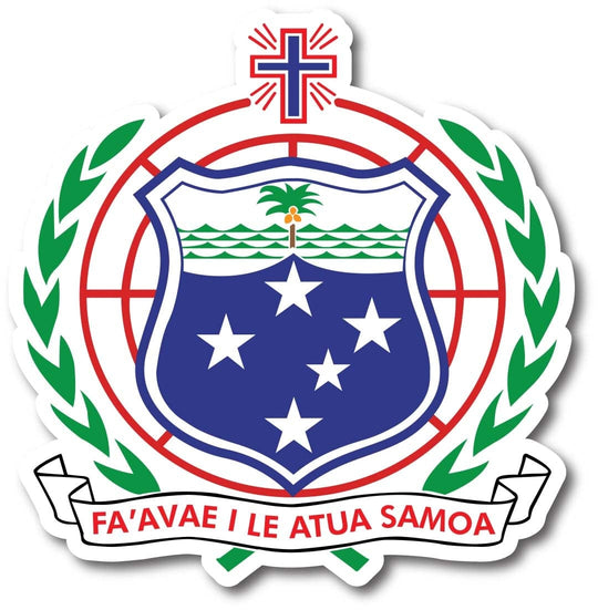 Samoan Coat Of Arms Waterproof Car Sticker