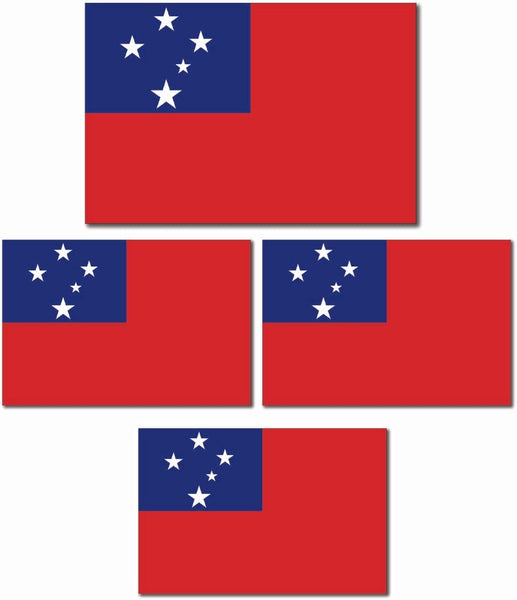 Samoan Flag Stickers Pack.