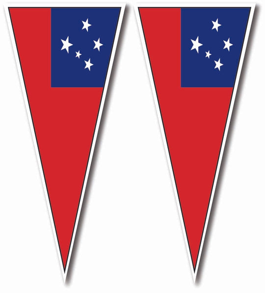 Samoan Flag  Car Stickers X 2