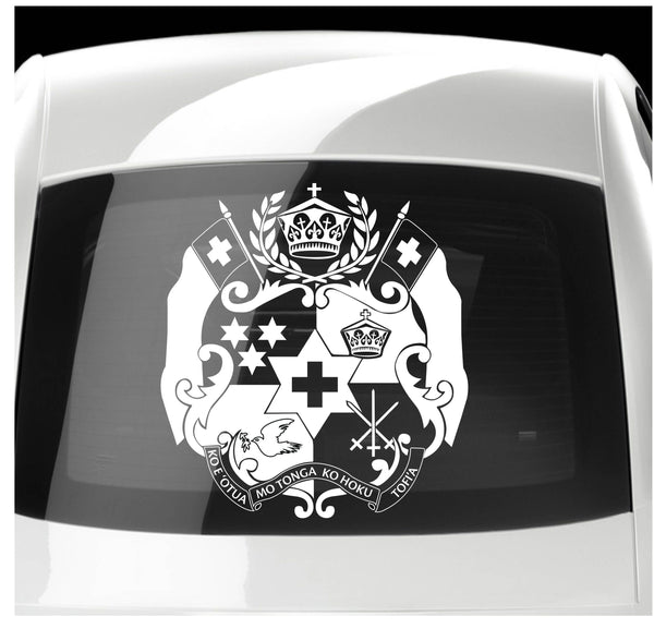 Tonga Coat of Arms Vinyl Sticker