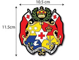 Tongan Coat Of Arms Waterproof Car Sticker