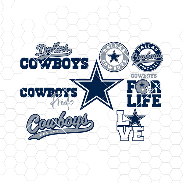 Dallas Cowboys SVG, Dallas Cowboys files, cowboys logo, football, silhouette cameo, cricut, cut files, digital clipart, layers, png dxf ai