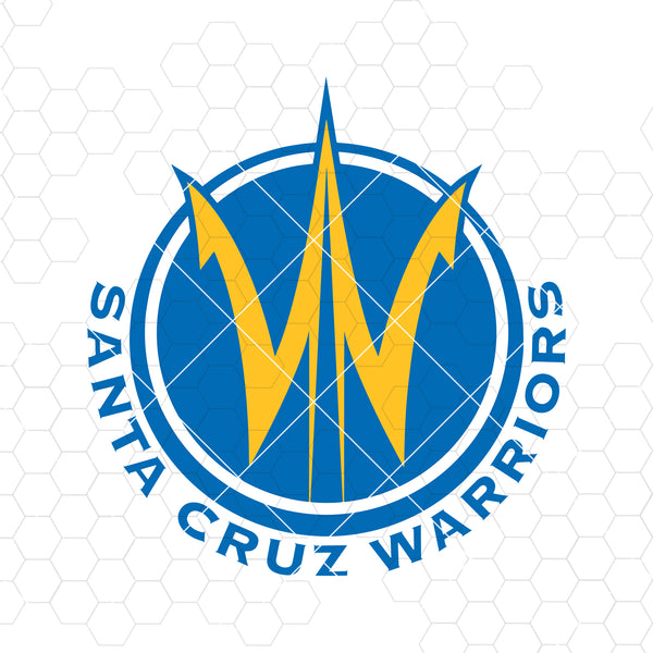 Santa Cruz Warriors Digital Cut Files Svg, Dxf, Eps, Png, Cricut Vector, Digital Cut Files Download