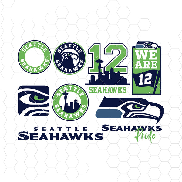 Seattle Seahawks SVG, Seattle Seahawks files, seahawks logo, football, silhouette cameo, cricut, digital clipart, layers, png dxf ai