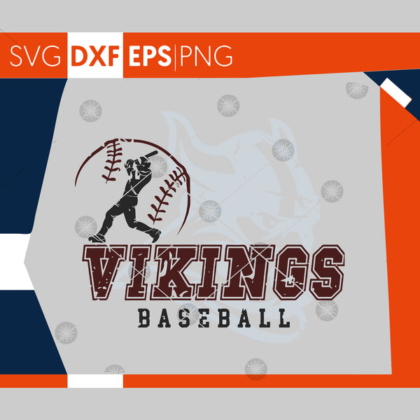 Vikings SVG, Baseball SVG, Grunge Vikings Baseball Design, Distressed Svg , Cricut Cut Files, Silhouette Cut Files, SVG Cutting Files