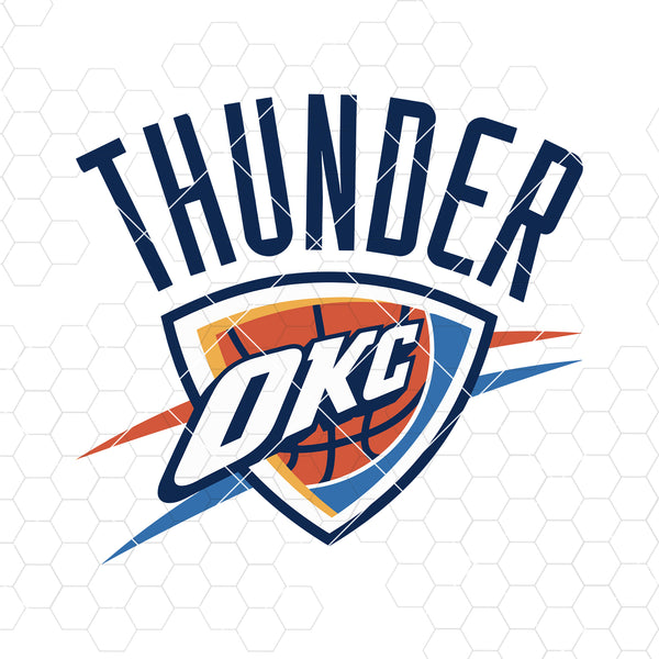 Oklahoma City Thunder Digital Cut Files Svg, Dxf, Eps, Png, Cricut Vector, Digital Cut Files Download