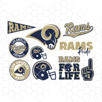 Los Angeles Rams SVG, Los Angeles Rams files, rams logo, football, silhouette cameo, cricut, cut files, digital clipart, layers, png dxf ai