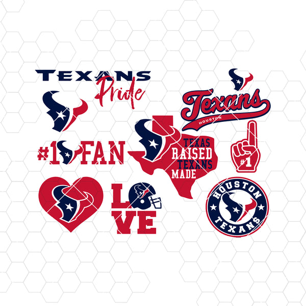 Houston Texans SVG, Houston Texans files, texans logo, football, silhouette cameo, cricut, cut files, digital clipart, layers, png dxf ai