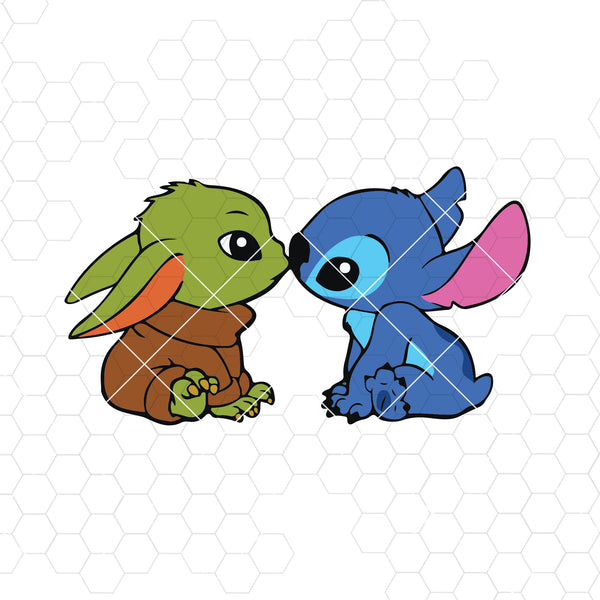 Yoda And Stitch,Digital file zip Download svg , png , jpge , pdf , eps , ai ,Instant Download