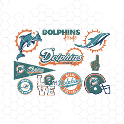 Miami Dolphins SVG, Miami Dolphins files, dolphins logo, football, silhouette cameo, cricut, cut files, digital clipart, layers, png dxf ai