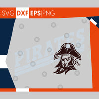 Pirates SVG, Football SVG, Grunge Pirates Football Design, Distressed Svg, Cricut Cut Files, Silhouette Cut Files, SVG Cutting Files