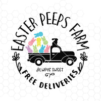 EASTER_PEEPS_FARM Svg, EASTER_PEEPS_FARM Svg, EASTER Svg, PEEPS_FARM Svg Dxf Png, EASTER_PEEPS_FARM Clipart, Happy Easter Svg, Silhouette, Cricut, Cut Files