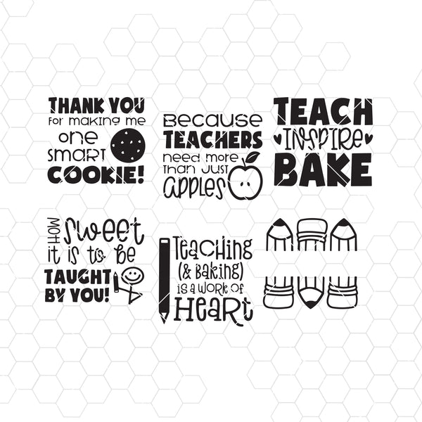 Teacher Thank You Oven Mitt Designs - Teacher Digital Cut Files Svg, Dxf, Eps, Png, Cricut Vector, Digital Cut Files Download